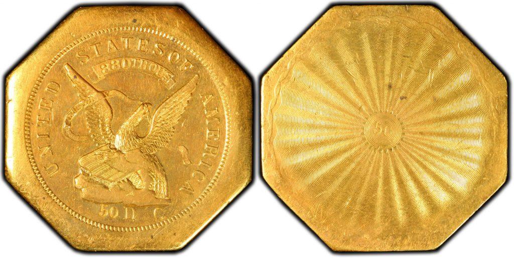 1851$50 レタードエッジハンバート880 50リバース トータルで残存9枚