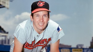 UNDATED: Brooks Robinson #5 of the Baltimore Orioles poses for a portrait. Robinson played for the Orioles from 1955-1977. (Photo by Louis Requena/MLB Photos via Getty Images)
