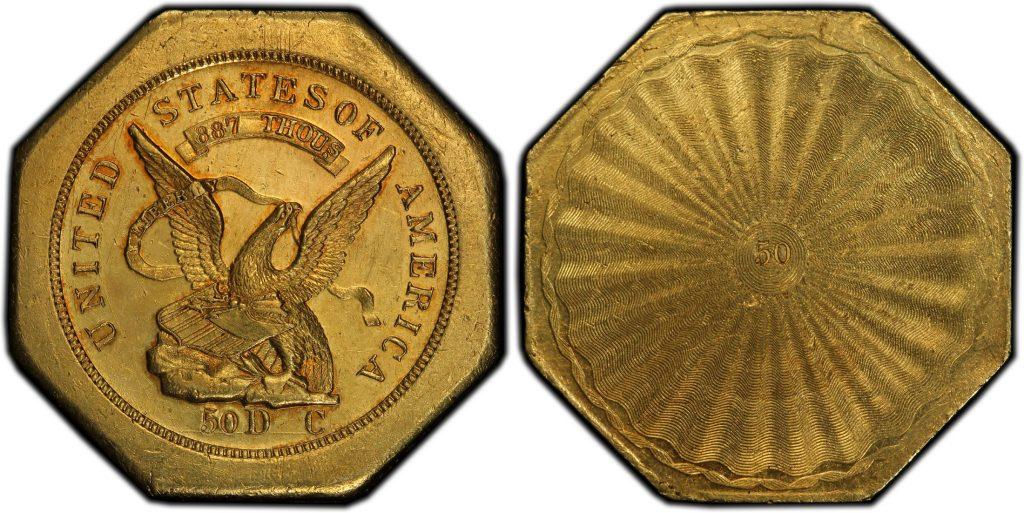 1851$50 レタードエッジハンバート887 50リバース トータルで残存32枚